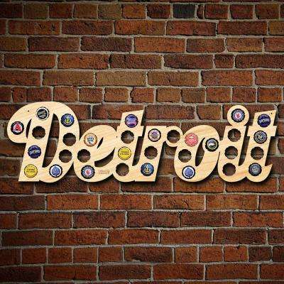"""""""Detroit City Name Beer Cap Map"""" Large Wall Decor"""