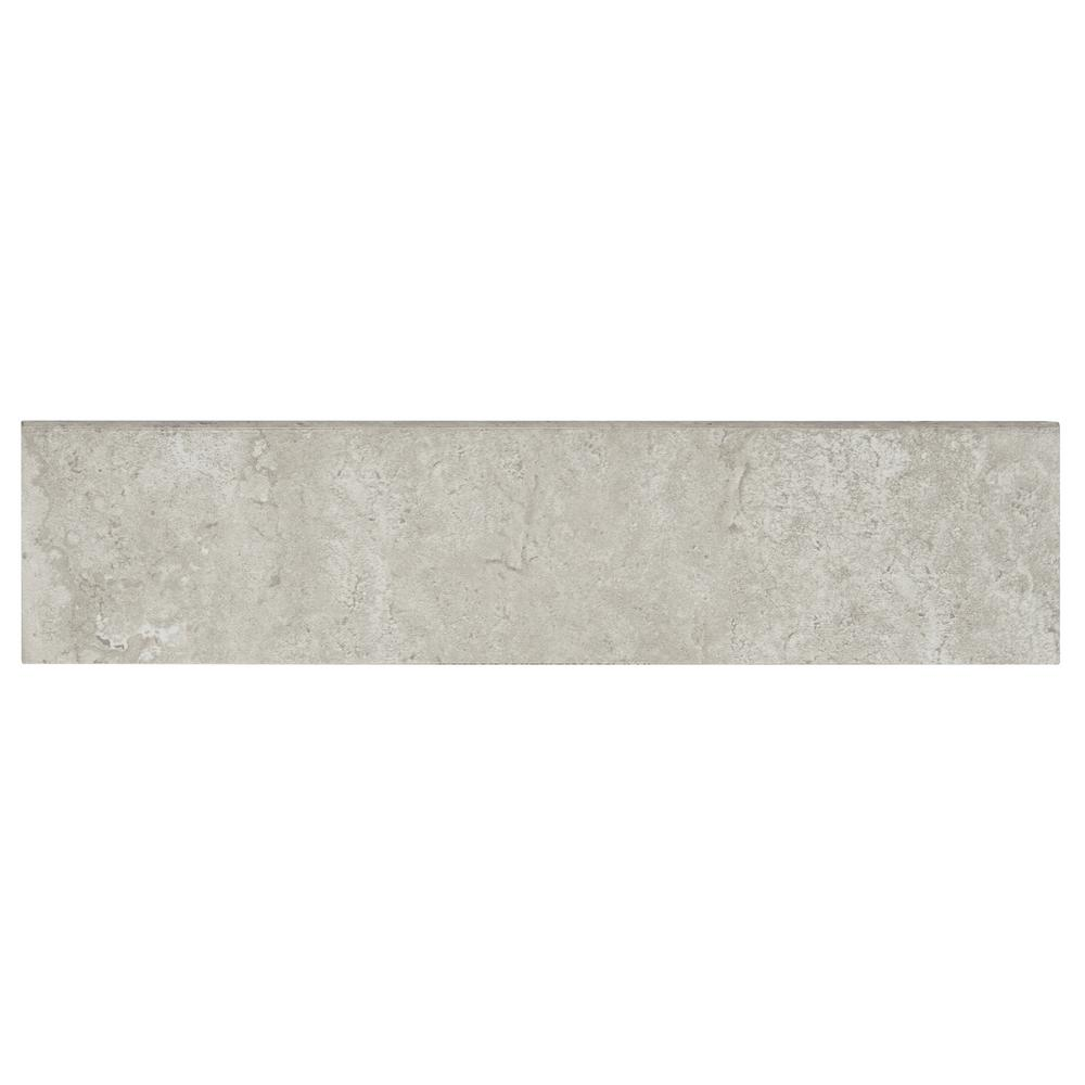 Daltile Northpointe Greystone 3 in. x 12 in. Porcelain Floor and Wall Bullnose Tile
