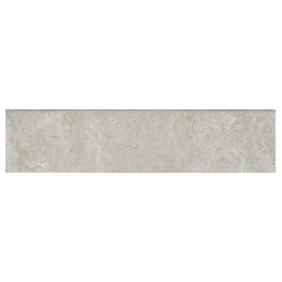 Northpointe Greystone 3 in. x 12 in. Porcelain Floor and Wall Bullnose Tile (0.25 sq. ft. / piece)