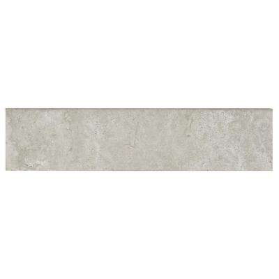 Northpointe Greystone 3 in. x 12 in. Porcelain Floor and Wall Bullnose Tile
