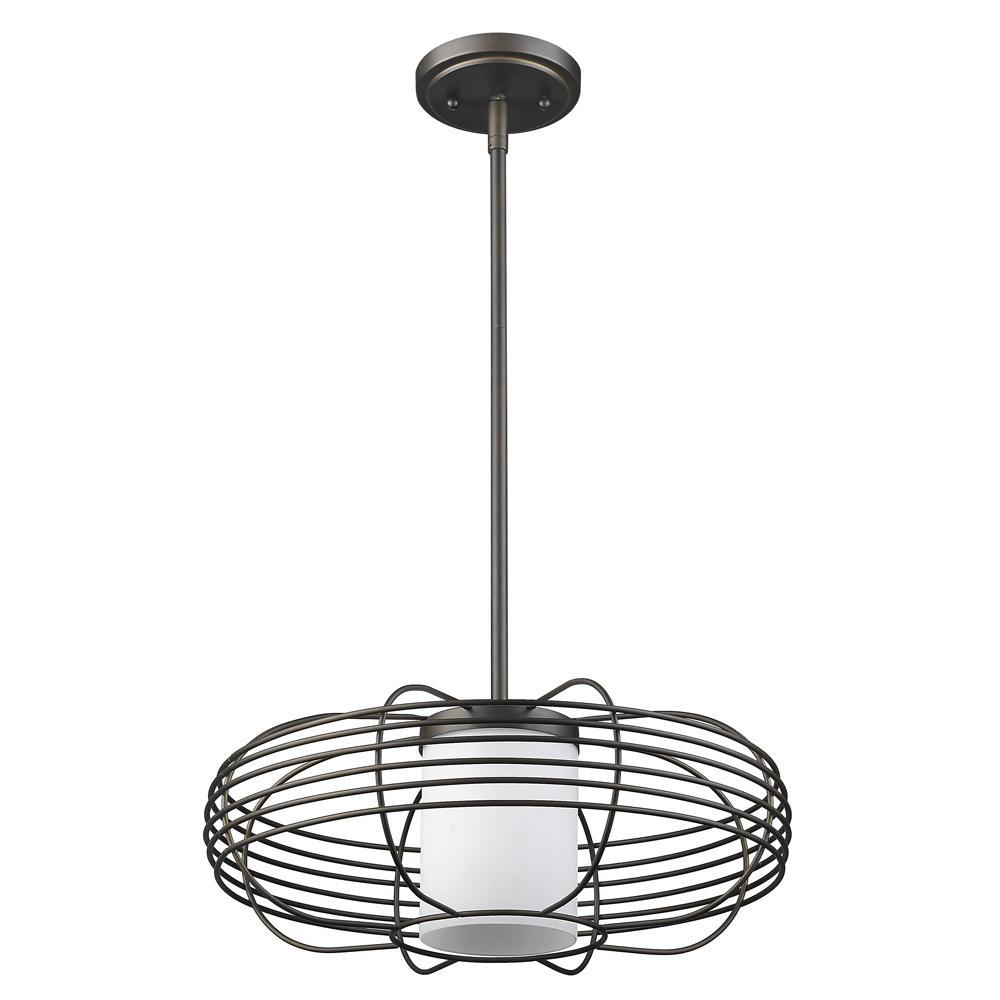 Acclaim Lighting Loft 1-Light Oil-Rubbed Bronze Wire Globe Pendant ...