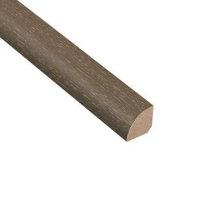Wire Brushed Hickory Grey 3/4 in. Thick x 3/4 in. Wide x 94 in. Length Hardwood Quarter Round Molding