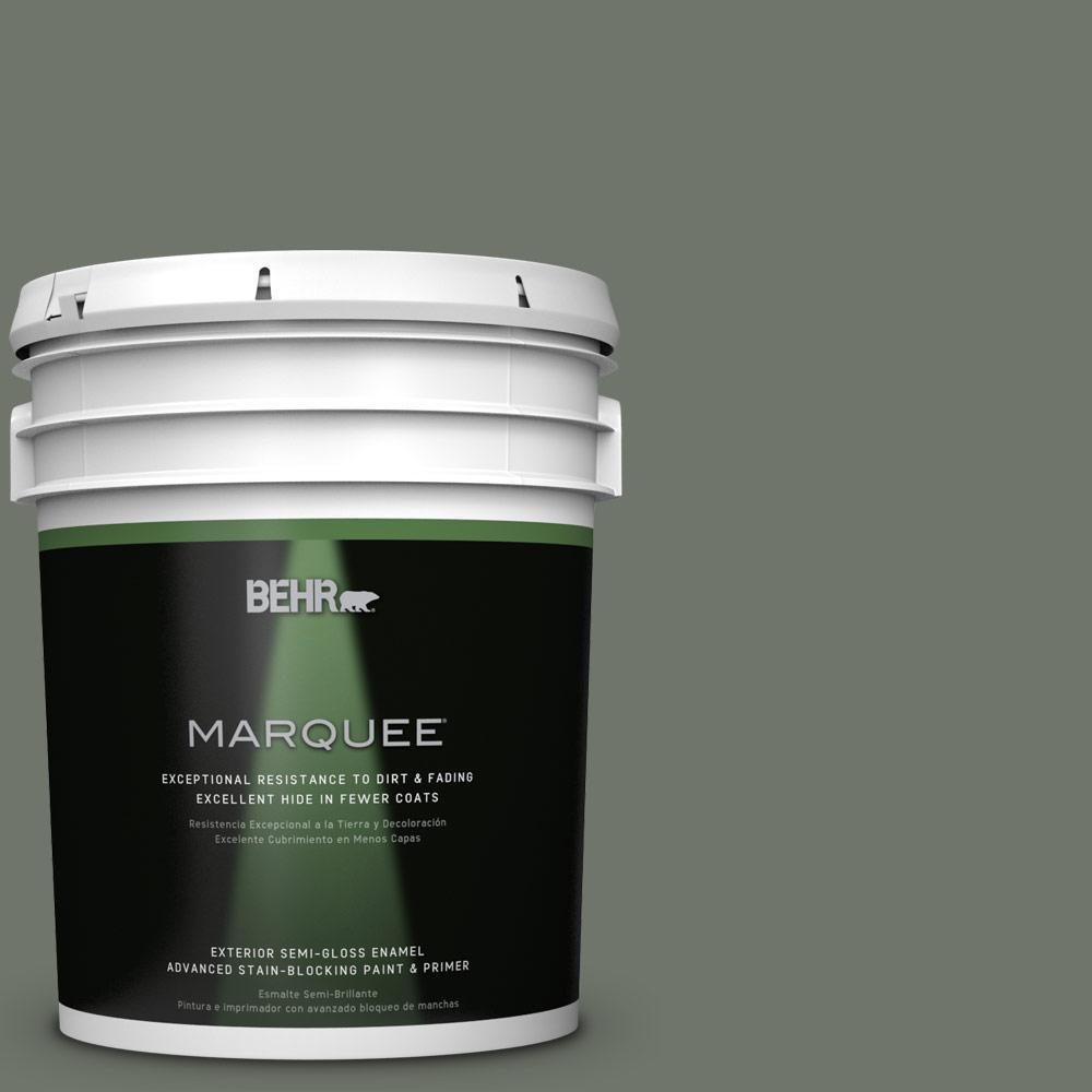5-gal. #BXC-72 Evergreen Trail Semi-Gloss Enamel Exterior Paint