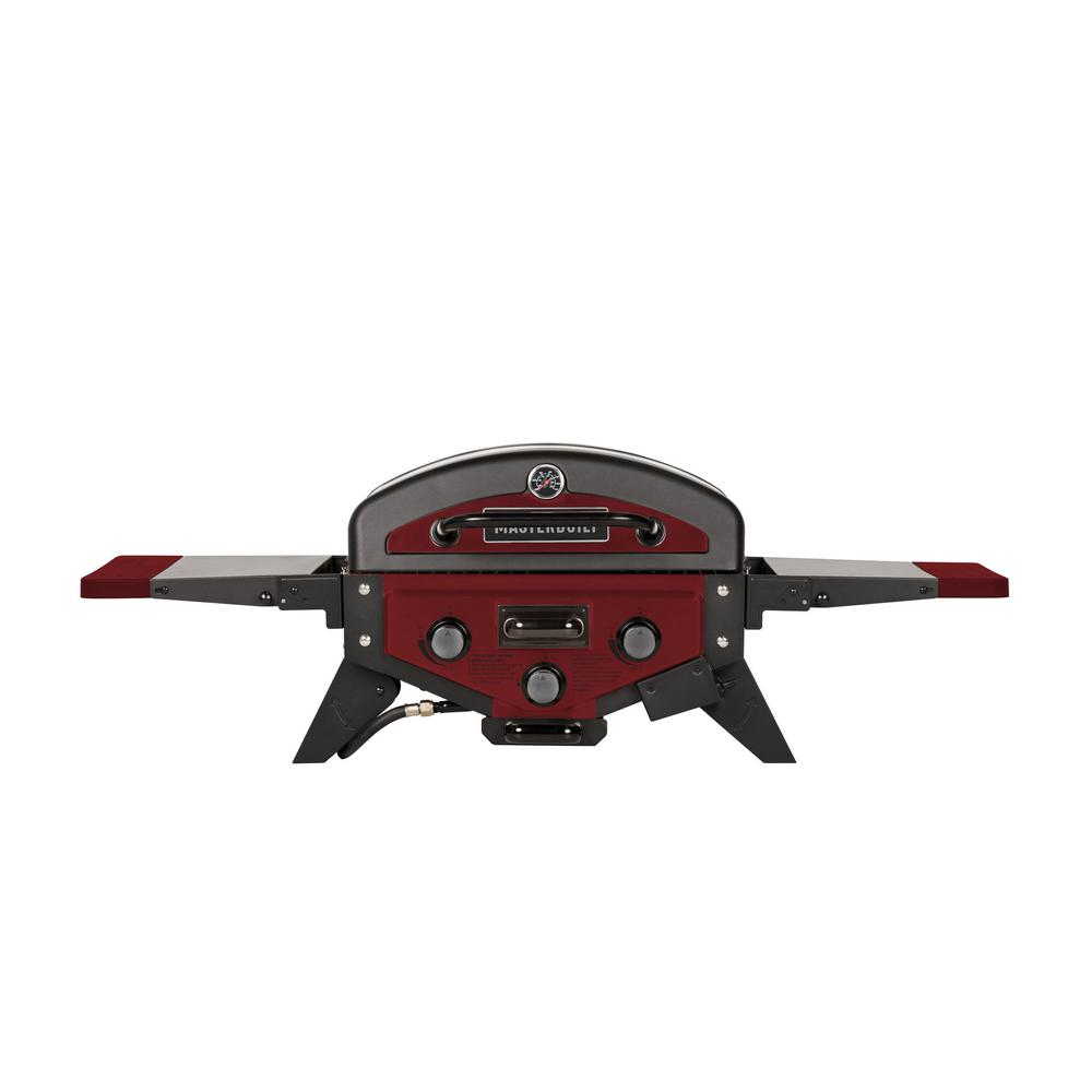 Masterbuilt MPG 300S Portable Propane Tabletop Grill in Red