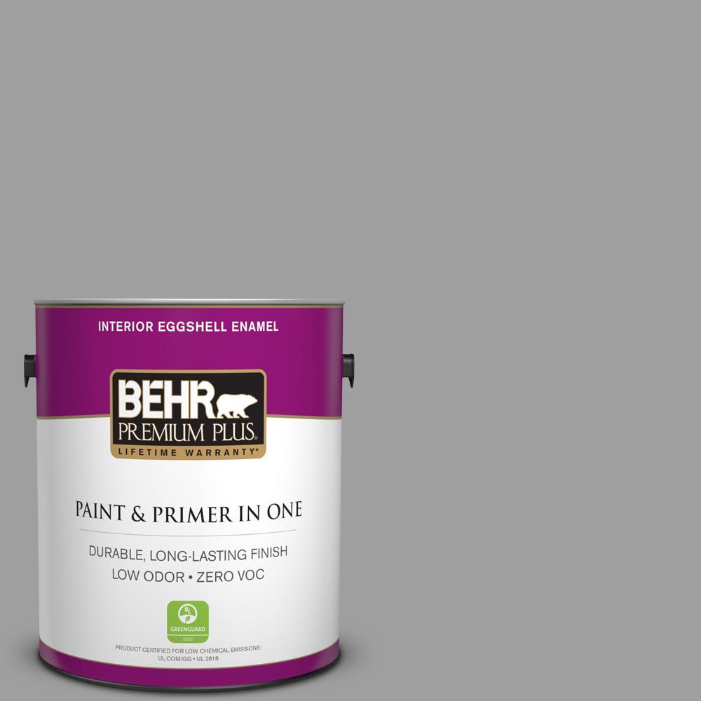 1 gal. #PPU26-06 Elemental Gray Zero VOC Eggshell Enamel Interior Paint
