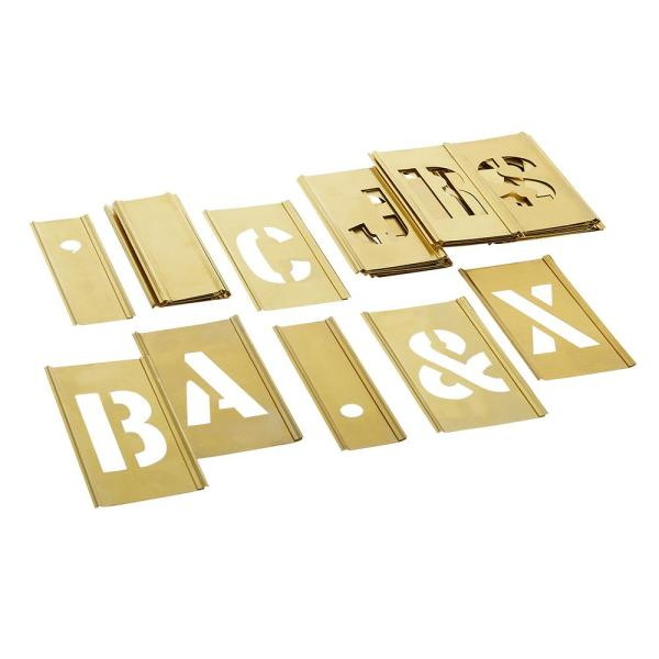 Brass 33 Piece Single Letter Sets 2 in 9 PacK