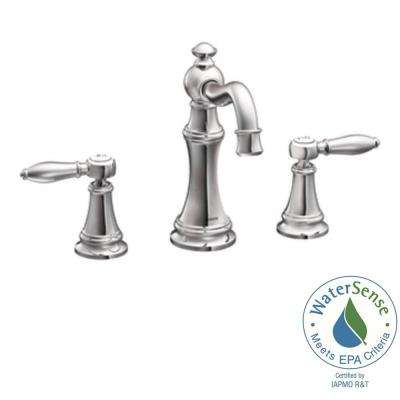 Weymouth 8 in. Widespread 2-Handle High-Arc Bathroom Faucet Trim Kit in Chrome (Valve Not Included)