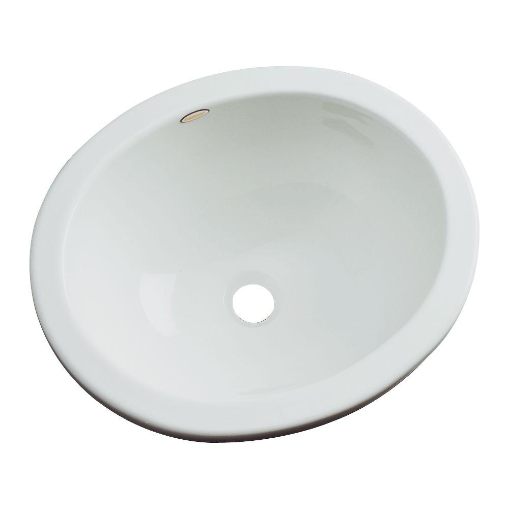 Thermocast Caladesi Undermount Bathroom Sink in Sterling Silver