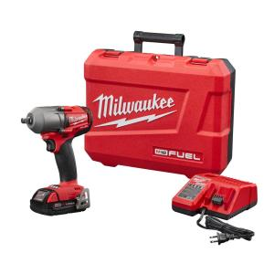 Milwaukee M18 FUEL 18-Volt Lithium-Ion Mid Torque Brushless Cordless 1/2 inch Impact Wrench W/Friction Ring Kit W/(1)... by Milwaukee