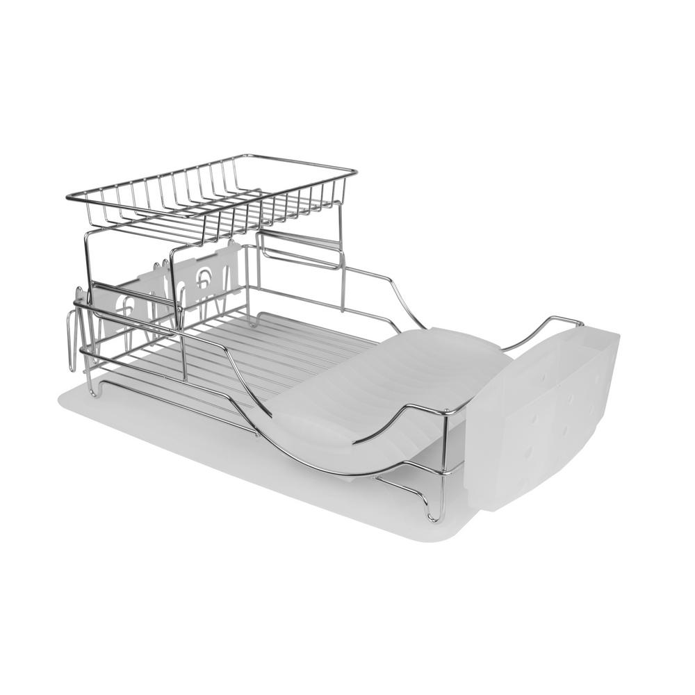 Genial HOME Basics Deluxe Dish Drainer In White