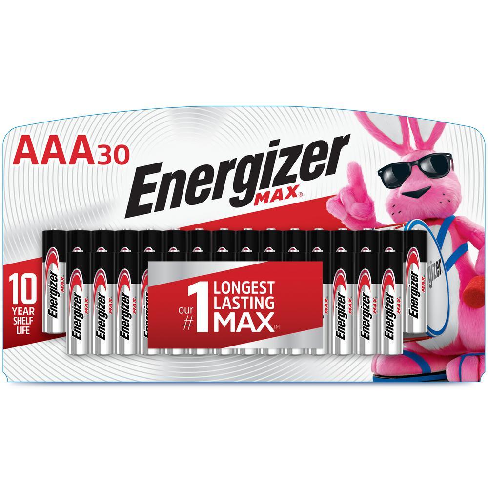 MAX AAA Batteries (30 Pack), Triple A Alkaline Batteries