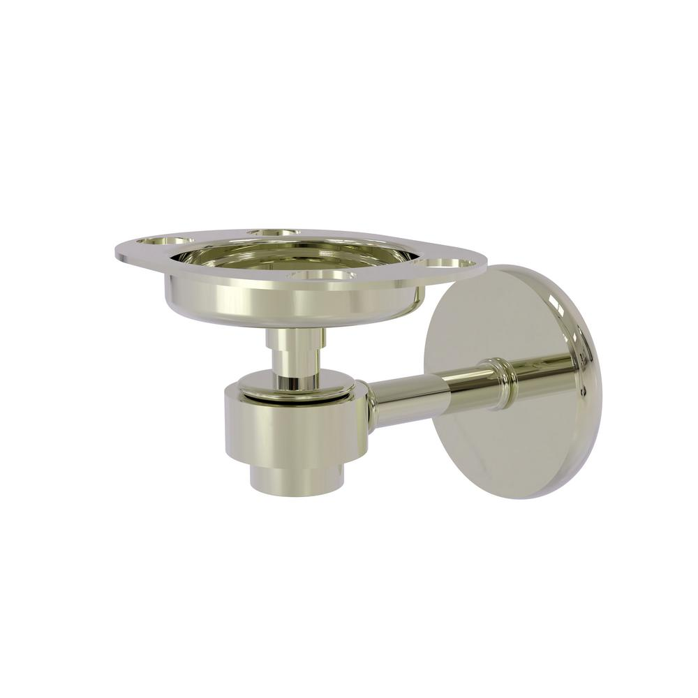 Allied Brass Satellite Orbit One Tumbler and Toothbrush Holder in Polished Nickel