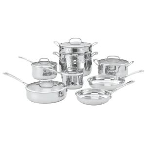 Cuisinart Contour 13-Piece Stainless Cookware Set with Lids by Cuisinart