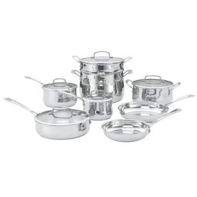 Contour 13-Piece Stainless Cookware Set with Lids