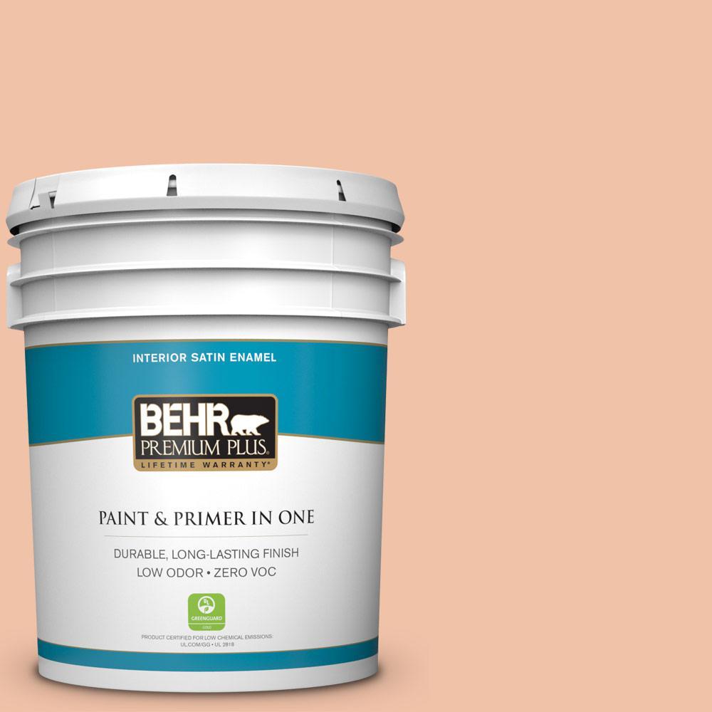 BEHR Premium Plus Home Decorators Collection 5-gal. #HDC-FL13-4 Pumpkin Mousse Satin Enamel Interior Paint