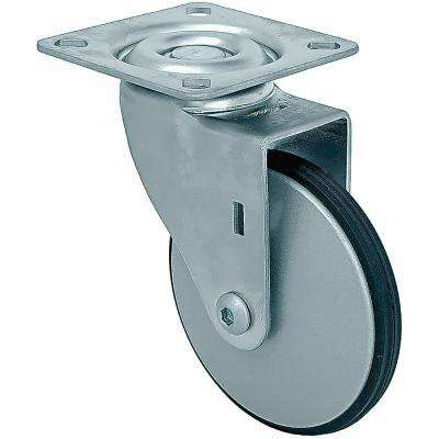 3 in. Petite Aluminum Swivel Caster with PE Tread, 77 lbs. Load Capacity (4-Pack)