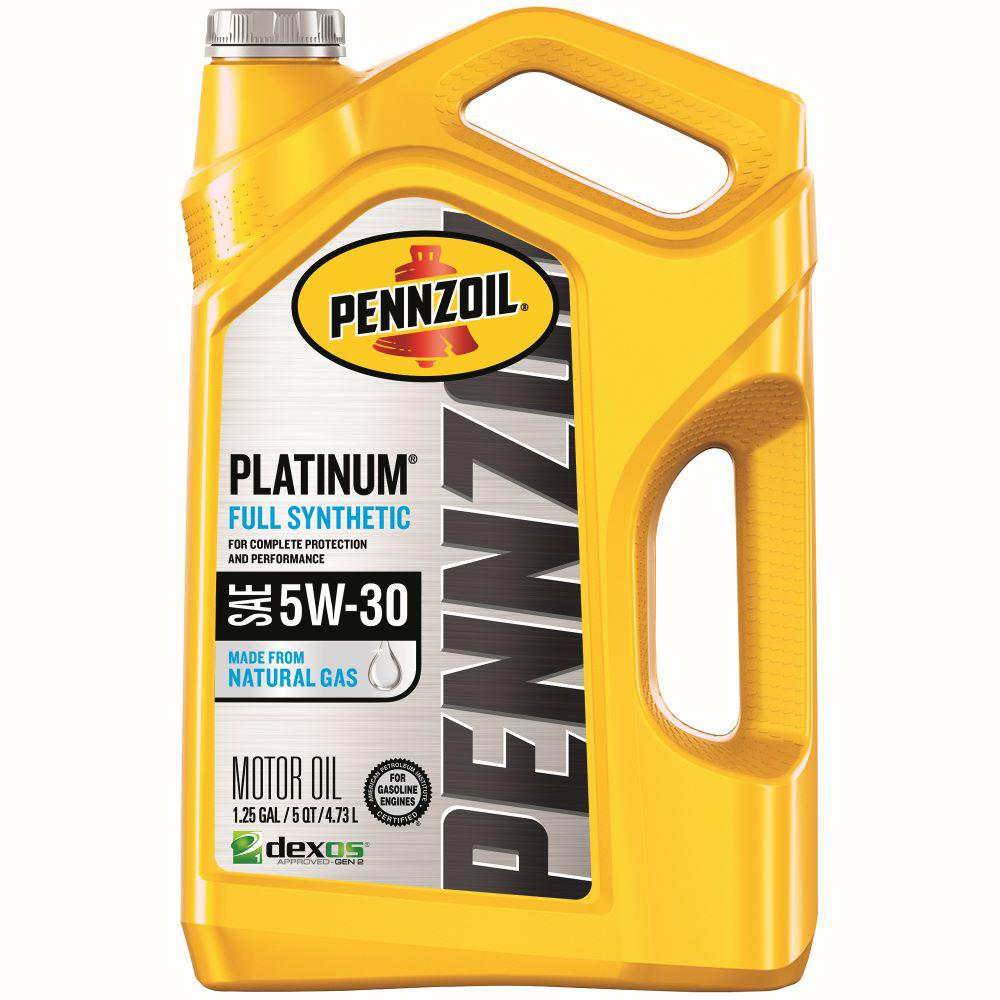 Pennzoil 5 Qt. SAE 5W-30 Platinum Full Synthetic Motor Oil