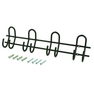 Heavy Duty Steel 20-3/4 in Wall Mount Storage Hook and Rail 100 lbs