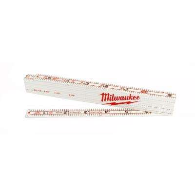 78 in. Engineer's Composite Folding Ruler