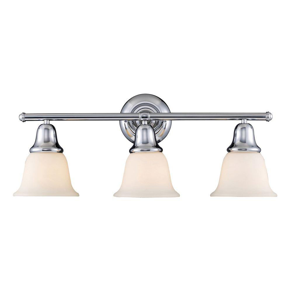 Titan Lighting Berwick 3-Light Polished Chrome Wall Mount Bath Bar ...