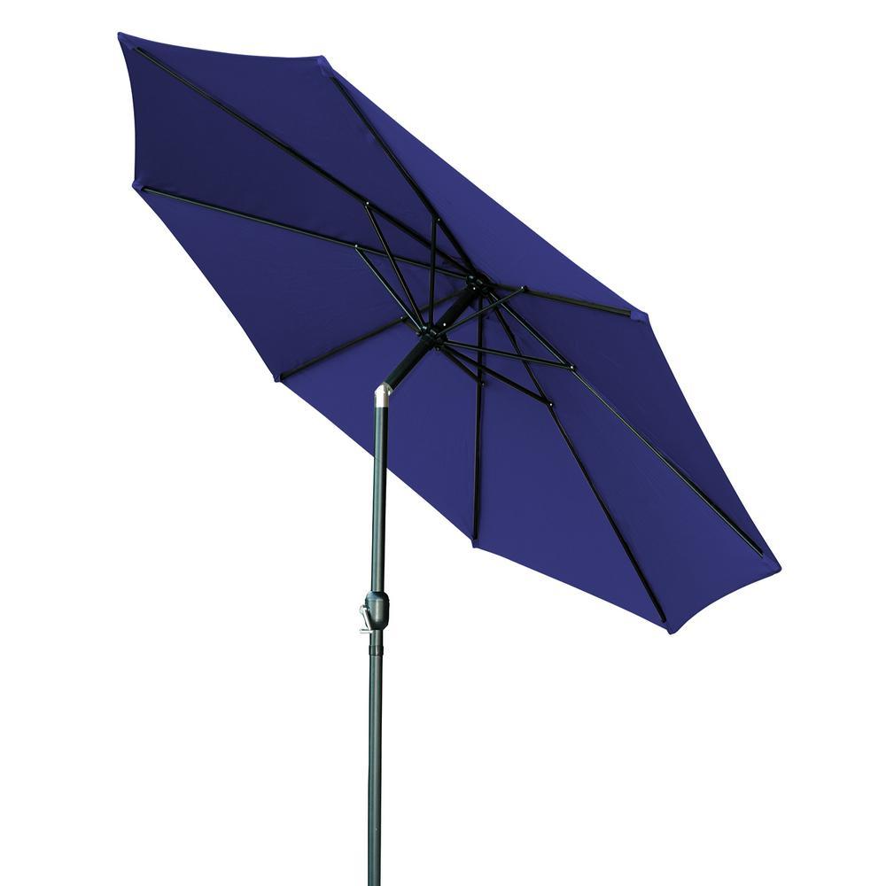 9 ft. Market Tilt Crank Patio Umbrella in Blue
