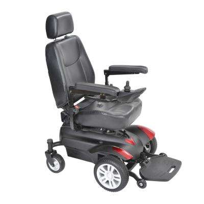 Titan Transportable Front-Wheel Power-Wheelchair with Vented Captain's Seat 18 in. x 18 in.