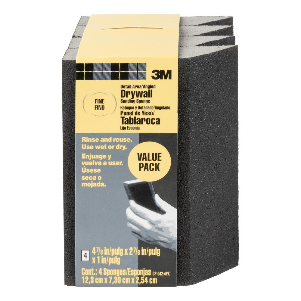 220 Sanding Sponge Blocks Medium Grain Grains Sand Block Pads for Kitchen Metal Drywall Wood 4pcs