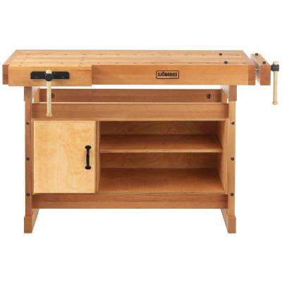Scandi Plus 4.35 ft. Workbench with SM07 Cabinet and Accessory Kit Combo