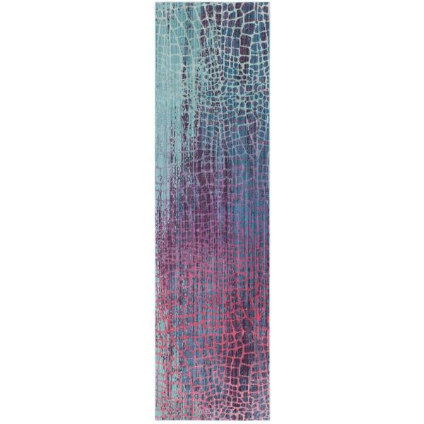 Safavieh Valencia Mauve Cream 2 Ft 3 In X 10 Ft Runner Rug Val114d 210 The Home Depot