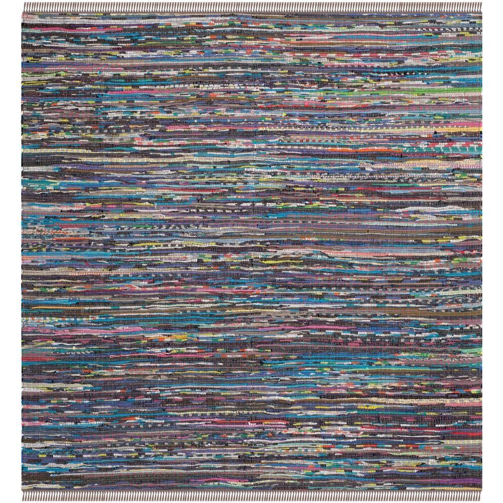 Safavieh Rag Rug Rust/Multi 4 ft. x 4 ft. Square Area Rug