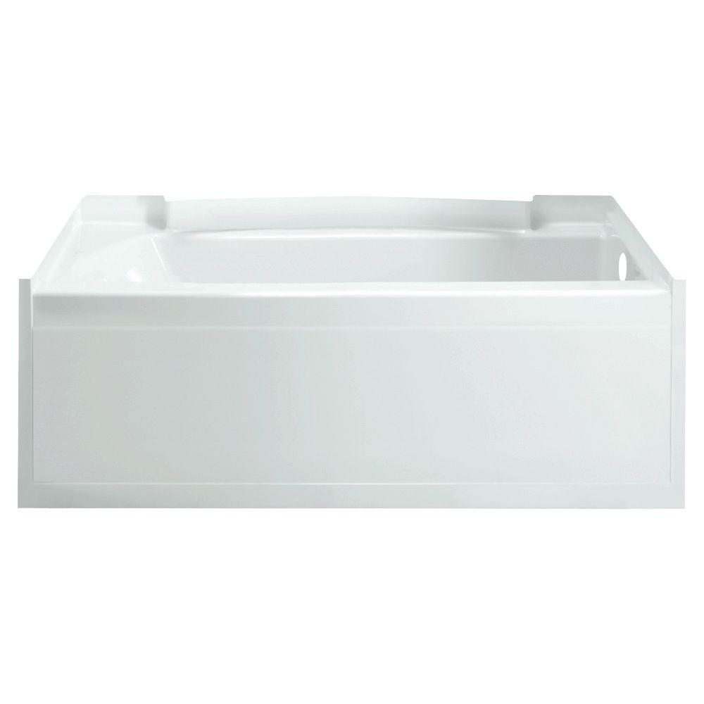 STERLING Accord 5 ft. Right Drain Soaking Tub in White-71151120-0 ...
