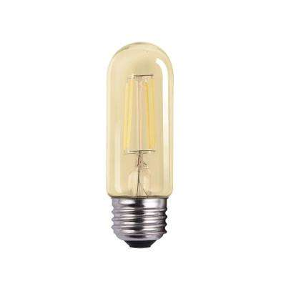 40-Watt Equivalent 4-Watt T10 Dimmable LED Clear Filament Antique Vintage Light Bulb 2700K 85074