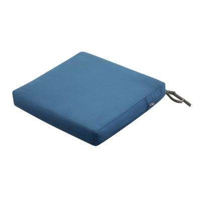 Ravenna 19 in. W x 19 in. L x 3 in. Thick Empire Blue Square Outdoor Seat Cushion