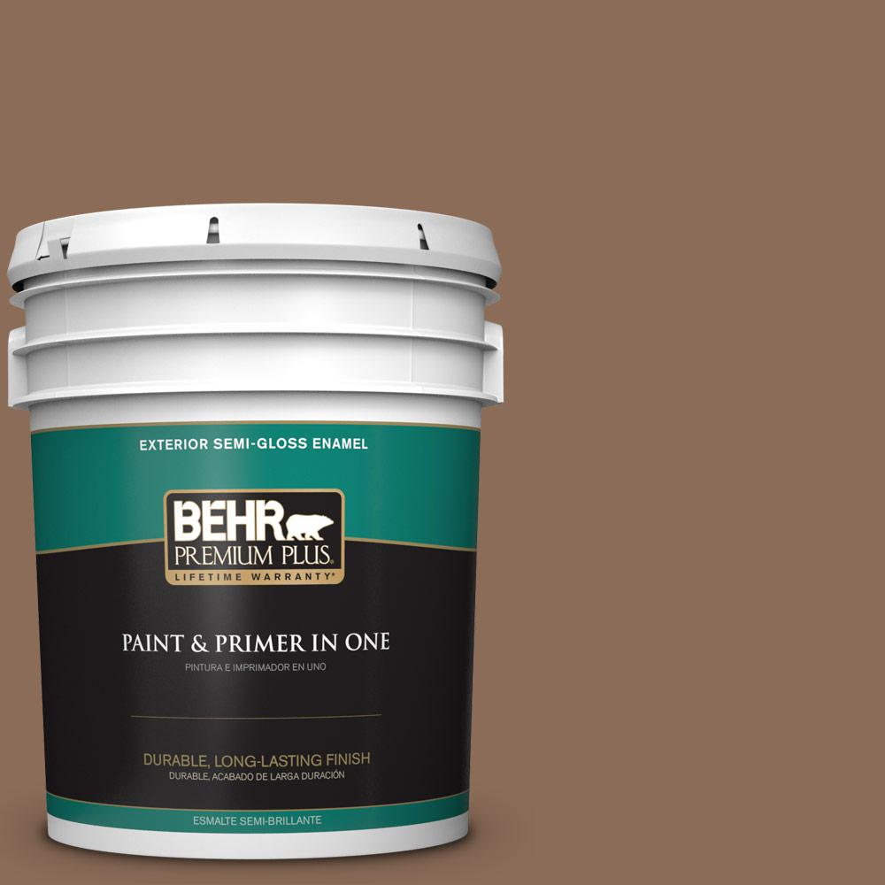 5 gal. #MQ2-43 Antiquities Semi-Gloss Enamel Exterior Paint and Primer in
