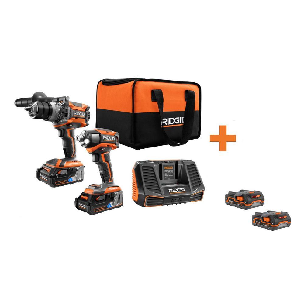 18-Volt OCTANE Cordless Brushless Combo Kit (2-Tool) with Bonus 18-Volt 1.5 Ah Lithium-Ion Battery (2-Pack)