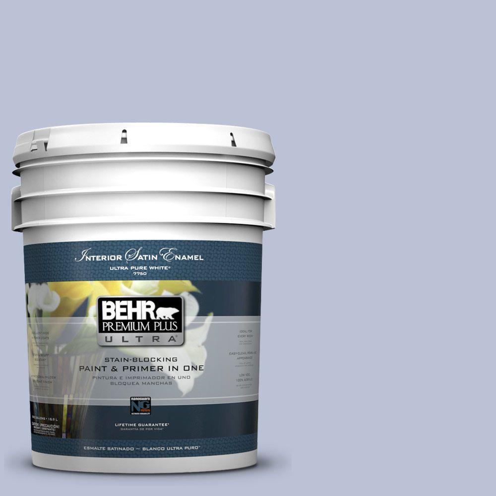 5 gal. #590E-3 Hyacinth Tint Satin Enamel Interior Paint and Primer