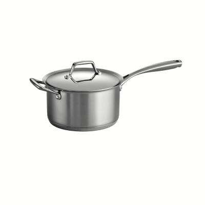 Gourmet Prima 4 Qt. Stainless Steel Saucepan with Lid