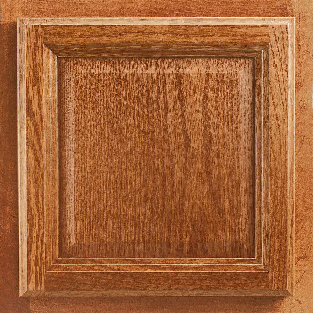 American Woodmark 13x12 7/8 In. Cabinet Door Sample In Portland Oak Honey