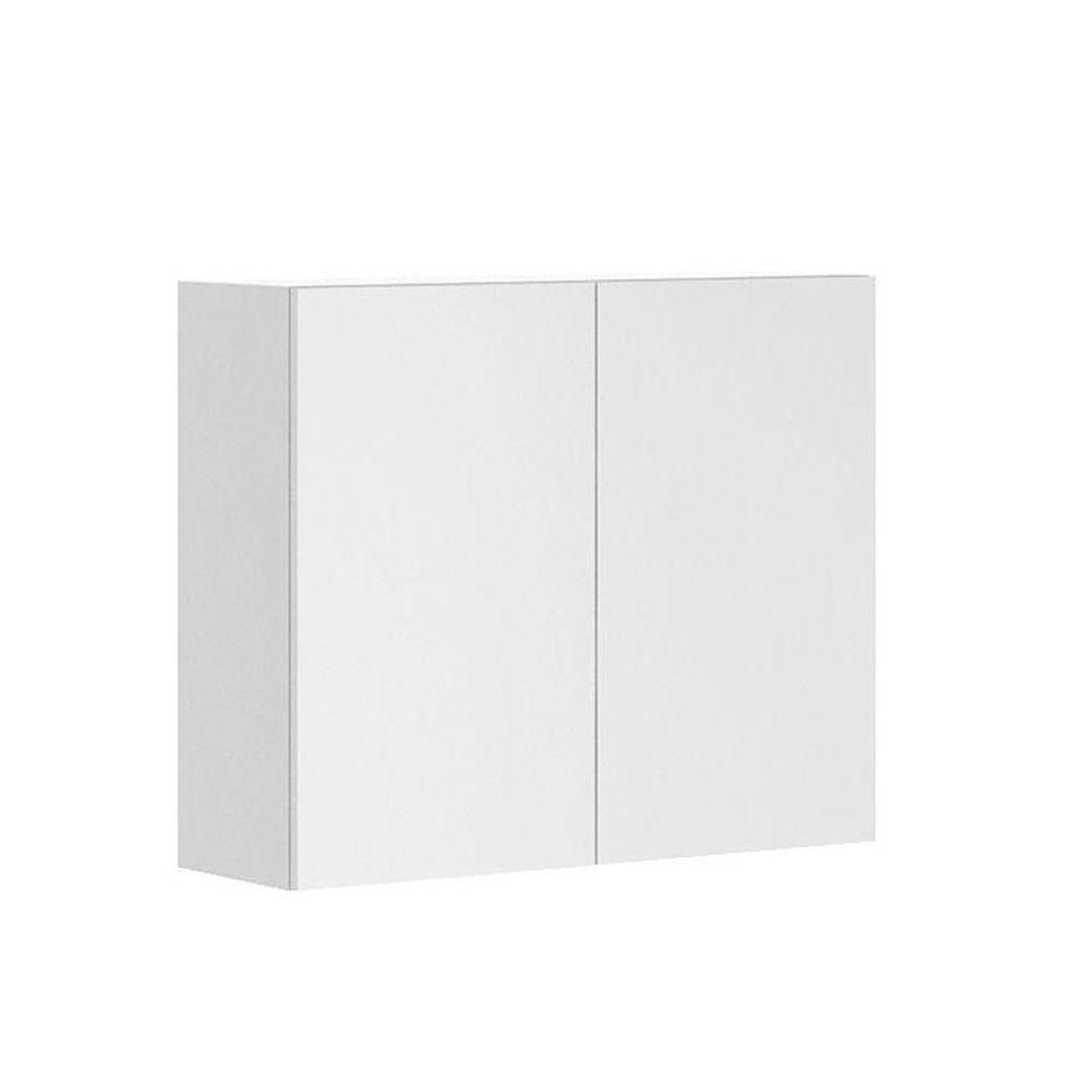 Fabritec Ready to Assemble 36x30x12.5 in. Alexandria Wall Cabinet in White Melamine and Door in White