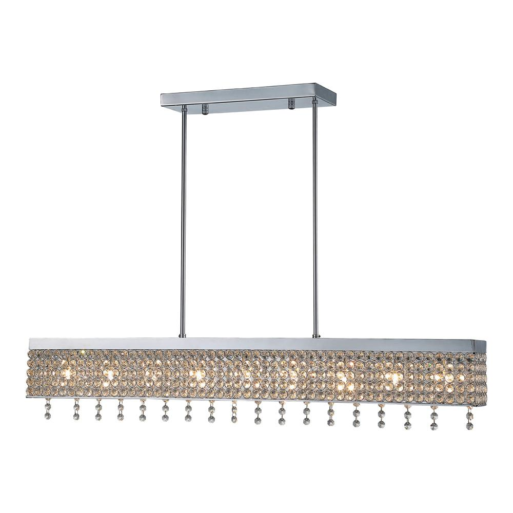 CASTELLO 5-LIGHT CHROME CHANDELIER