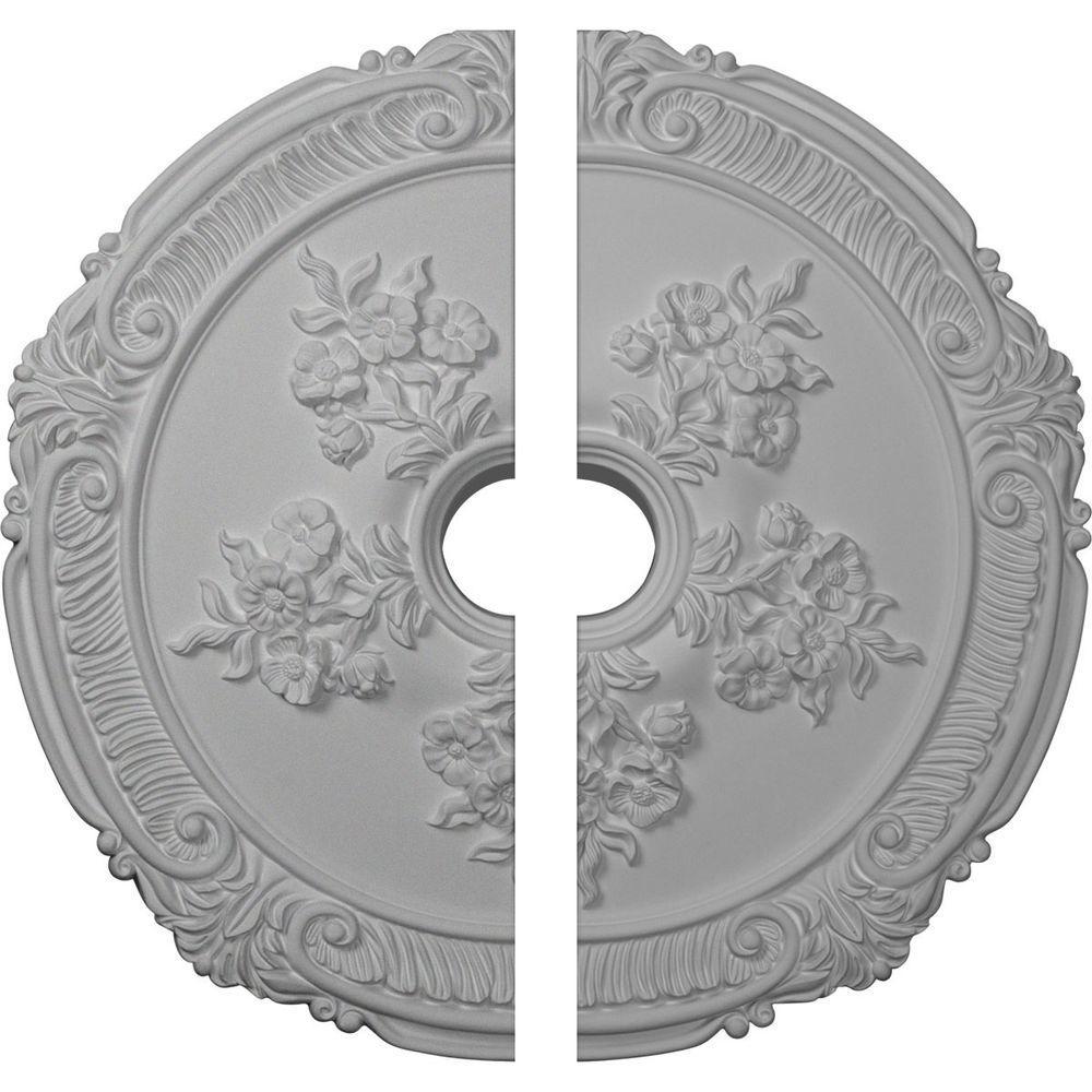 26 in. O.D. x 3-3/4 in. I.D. x 1-1/2 in. P Attica with Rose Ceiling Medallion (2-Piece)