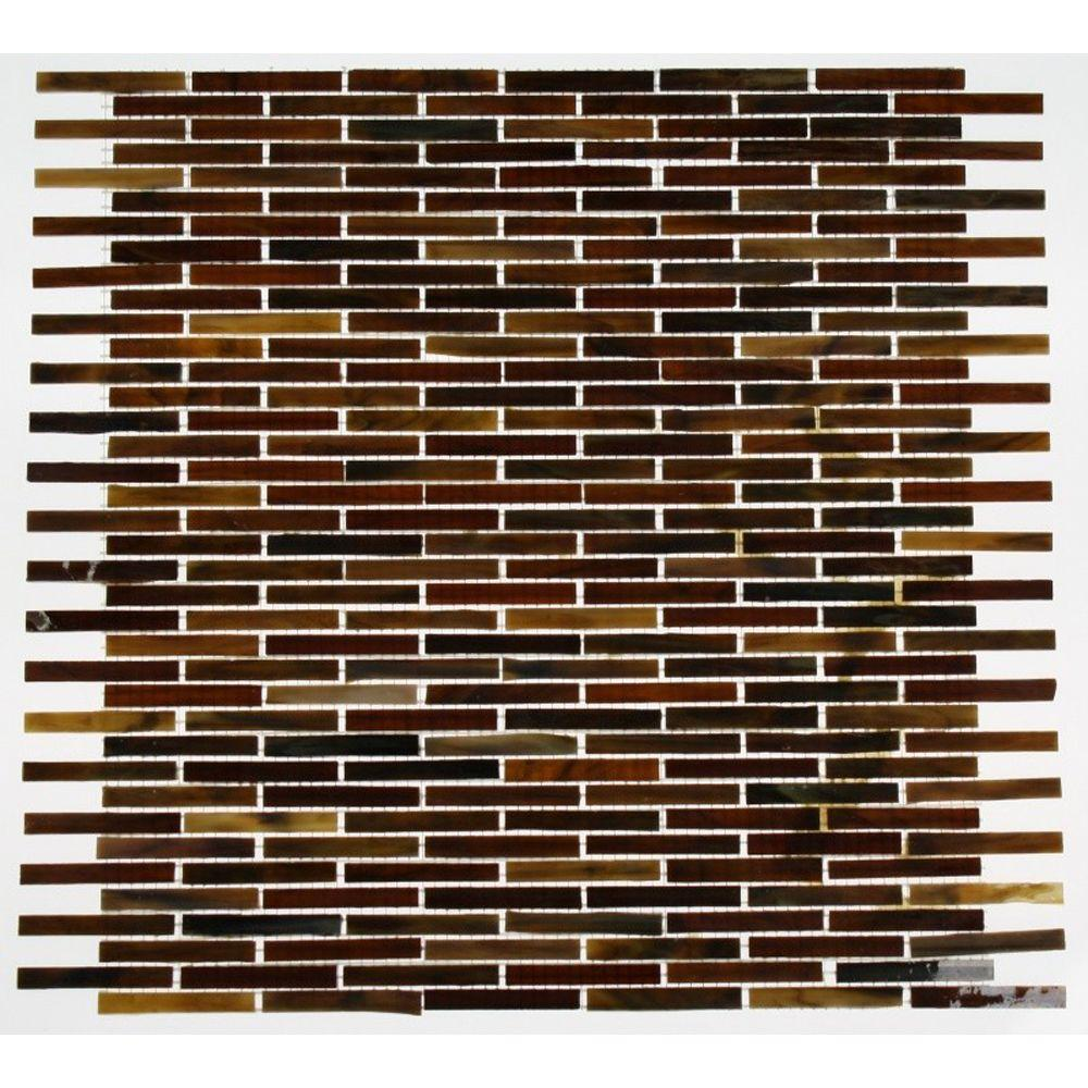 Splashback Tile 12 in. x 12 in. x 8 mm Glass Mosaic Floor and Wall Tile