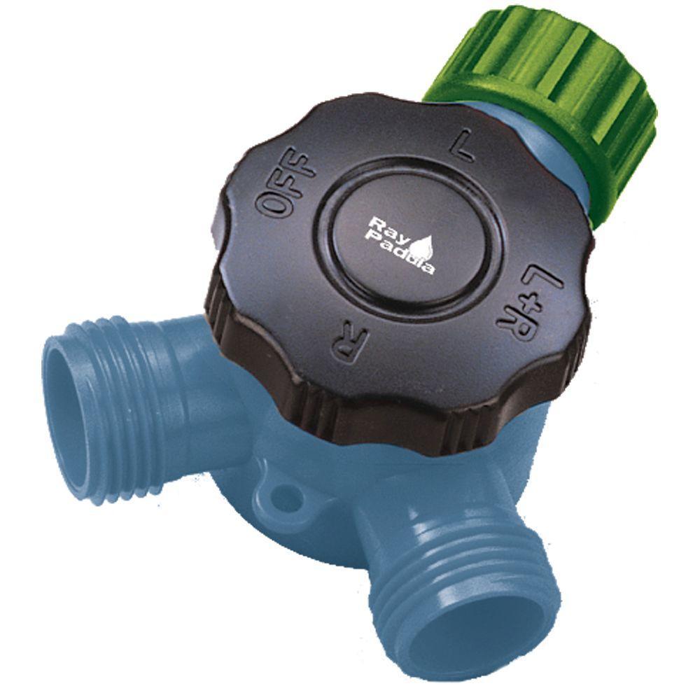 Dial Control Garden Hose Faucet Y-Splitter Adapter