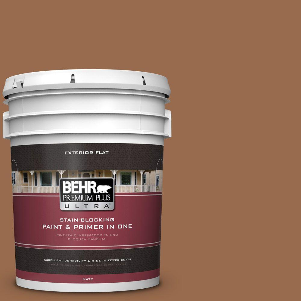 5-gal. #S230-7 Toasted Bagel Flat Exterior Paint