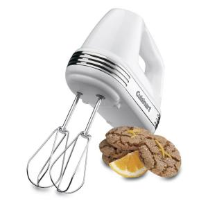 Power Advantage 5-Speed White Hand Mixer with Recipe Book