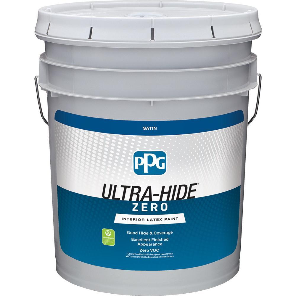 Ultra-Hide Zero 5 gal. Pure White/Base 1 Satin Interior Paint