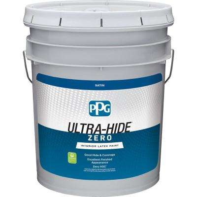 Ultra-Hide Zero 5 gal. Pure White/Base 1 Satin Interior Paint