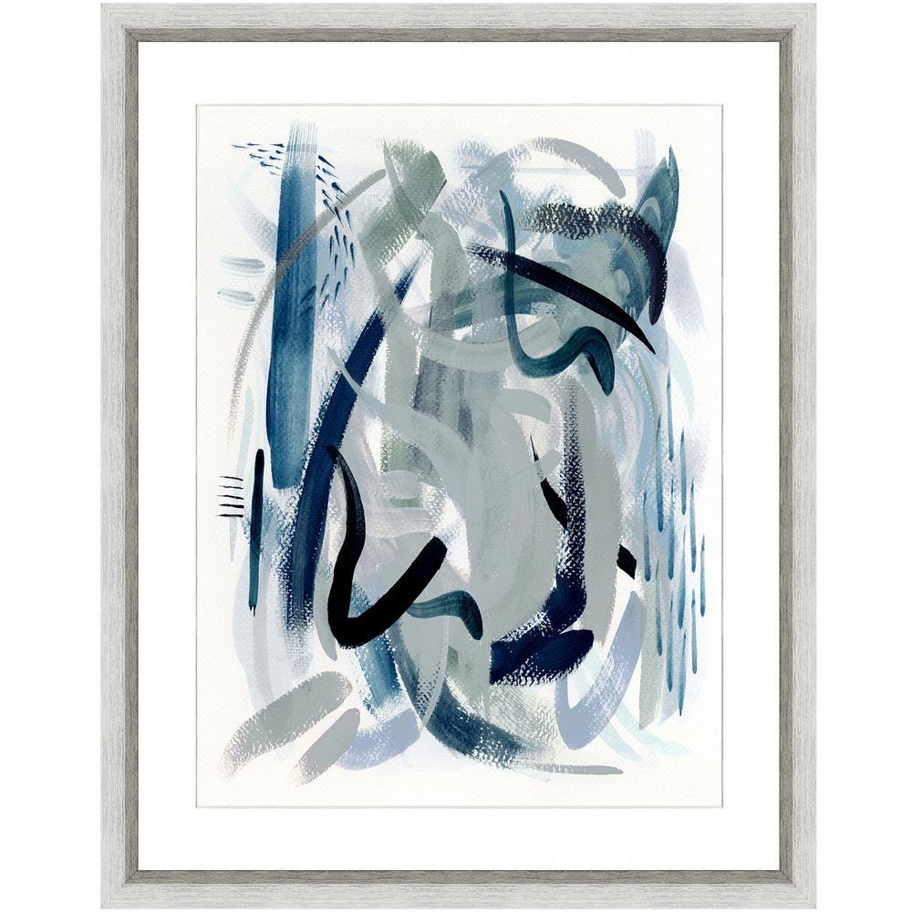 """""""Dark waters II"""" Framed Archival Paper Wall Art (26 in. x 32 in. in full size)"""