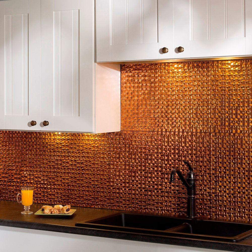 Decorative backsplash tile