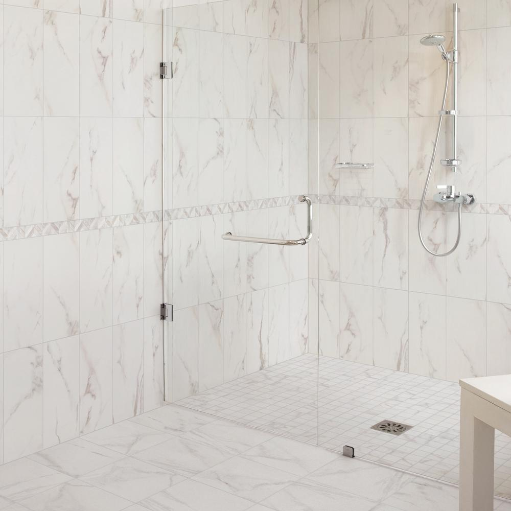 Florida Tile Home Collection Michelangelo White 4 in. x 4 in. Porcelain  Floor and Wall Tile (4.4 sq. ft. / case)